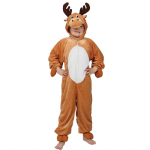 REINDEER RUDOLPH ALL IN ONE CHILDRENS FANCY DRESS COSTUME